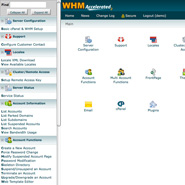 WebHost Manager Reseller Panel